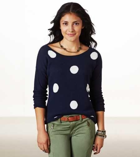 AE Polka Dot Crew Sweater