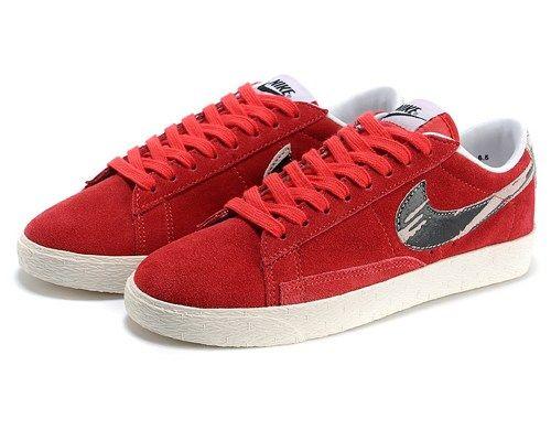 cheap 599385 600 nike blazer low suede red women shoes nike