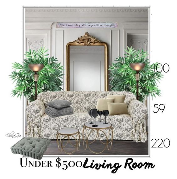 """""""positive"""" by elenagio ❤ liked on Polyvore featuring interior, interiors, interior design, home, home decor, interior decorating, Nearly Natural, Classic Slipcovers, Elements and Grandin Road"""