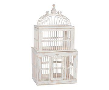 Cage à oiseaux, blanc - H73