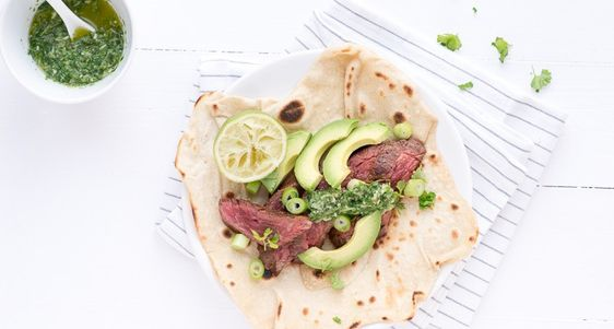 wraps met biefstuk en groene salsa-9