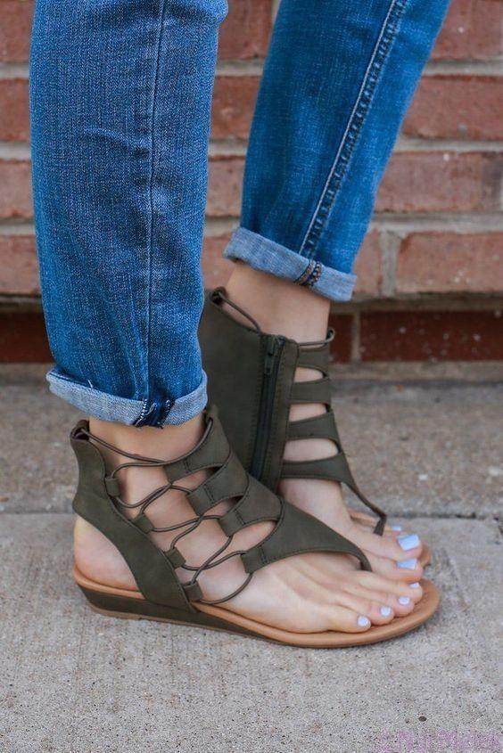 2020 Bayan Sandalet Modelleri Sandalet Moda Ayakkabilar Bayan Ayakkabi