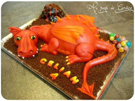Tuto gâteau dragon