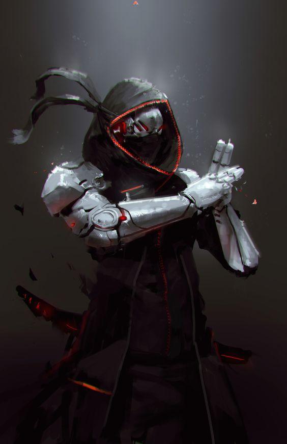 Robot Ninja, Jeff Chen on ArtStation at https://www.artstation.com via550