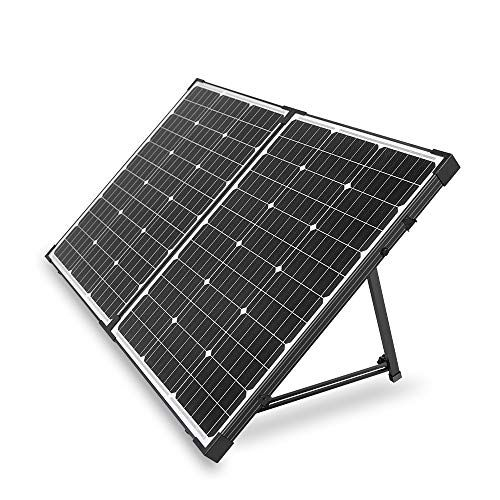 Hqst 100 Watt 12 Volt Off Grid Monocrystalline Portable Folding Solar Panel Suitcase With Charge Controller In 2020
