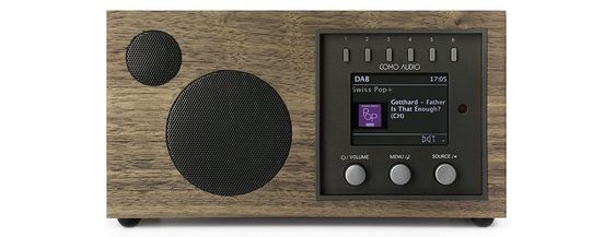 Amazon.com: Como Audio: Solo - Wireless Music System with Internet Radio, Spotify Connect, Wi-Fi, FM, and Bluetooth - Walnut/Black: Home Audio & Theater