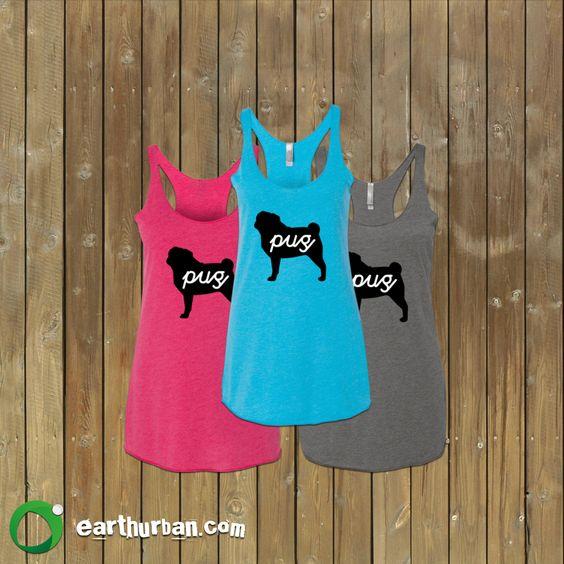 Signature Pug Women's Tank Top #pugs #dogs #fitness #gym #yoga