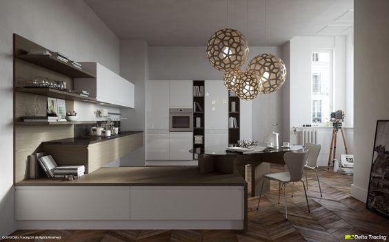 3D Visualization - Kitchen. Sample production image.