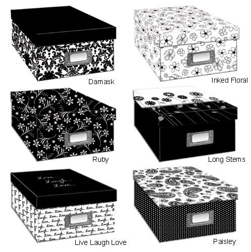Pioneer B1 Bw Photo Storage Box Black White Photo Box Storage Photo Storage Sewing Pattern Storage
