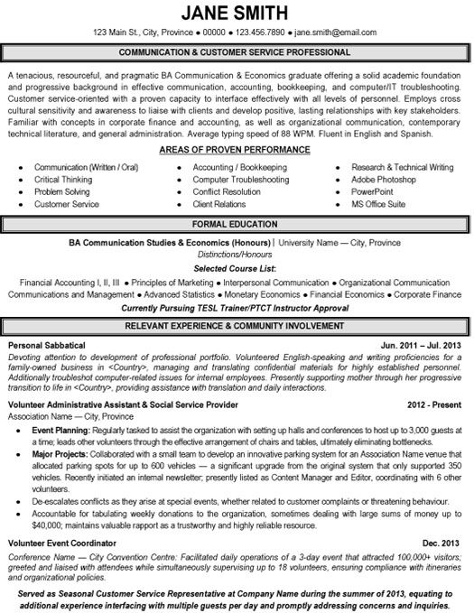customer service resume  resume and communication on pinterest