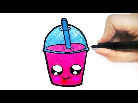 How To Draw A Milk Shake Cute Youtube Kawaii Desenhos