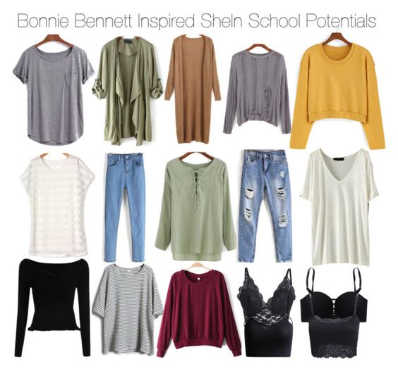"""Bonnie Bennett Inspired SheIn School Potentials"" by staystronng ❤ liked on Polyvore featuring school, tvd, potentials and BonnieBennett"