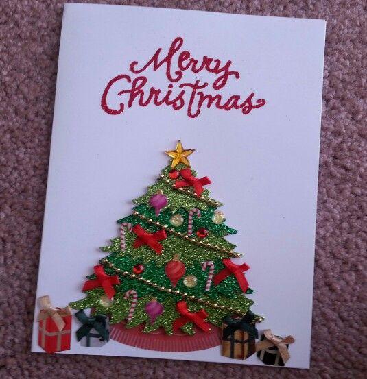 Ann's handmade Christmas card