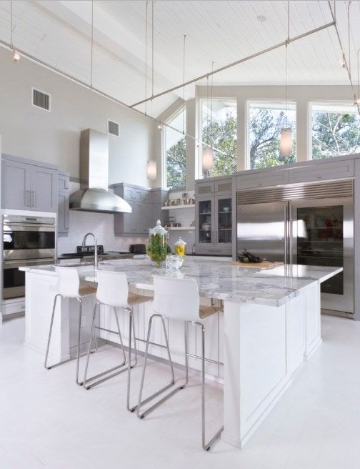 32 Kitchens With High Ceilings Photos Contemporary Kitchen Kitchen With High Ceilings Contemporary Kitchen Design