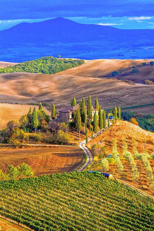 Val d'Orcia, Toscana, Italia: