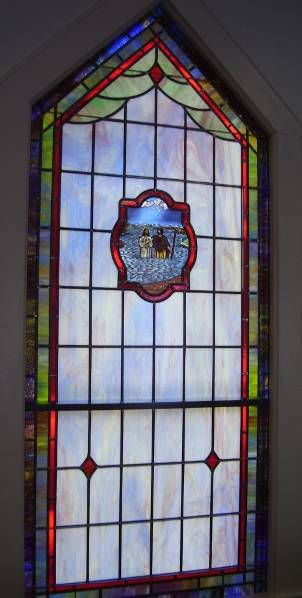 Stained Glass Windows at Pine Mountain Friends Church in Bennett, NC