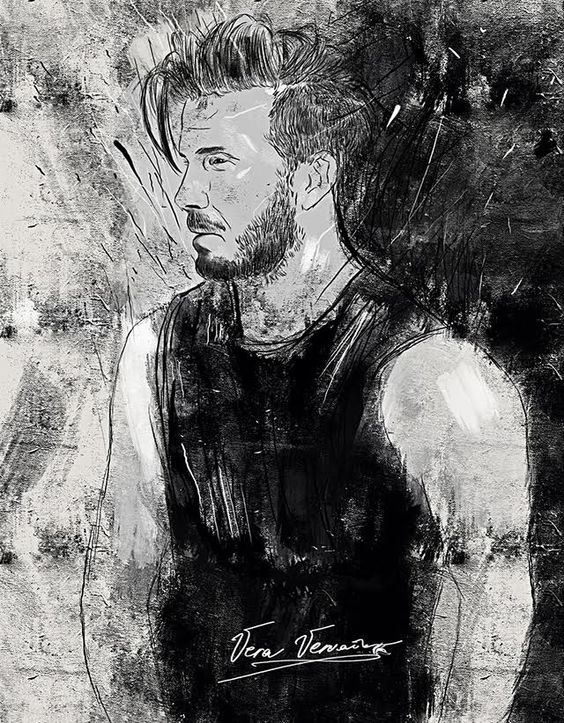 illustration by @veravervain_1 #veravervain #vervainvera   David Beckham   #davidbeckham #beckham #footboll #player #футболист #бэкхэм #девидбекхэм #blackandwhite #чернобелое #2d #cg #concept #character #huion  \
