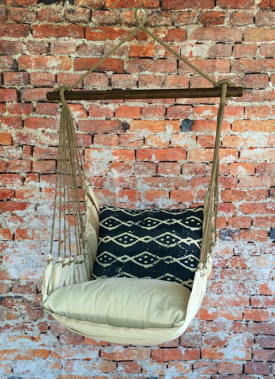 Loving this hammock swing chair from lofty^vibes! It's indoor / outdoor and is fade resistant! Would look awesome on a patio or in a teen bedroom!: