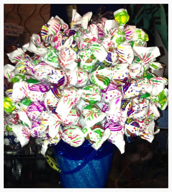 Blow Pop Candy Bouquet Candy Topiary By T Pinterest