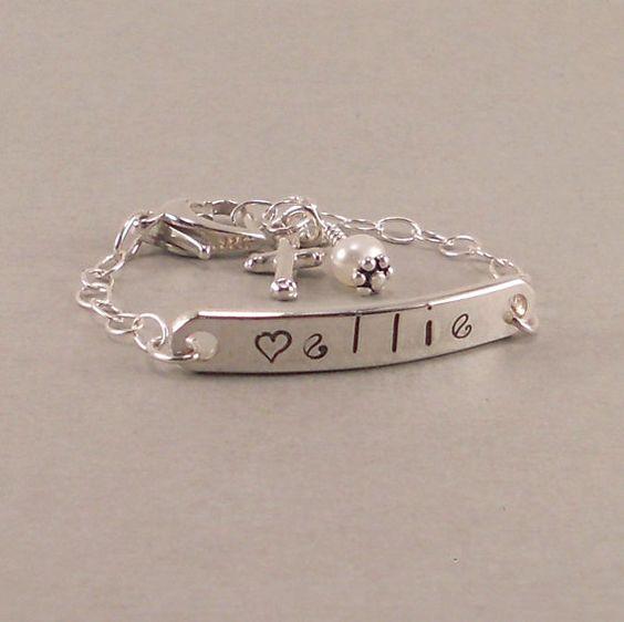 Girl Names Id Bracelets And Name Bracelet On Pinterest