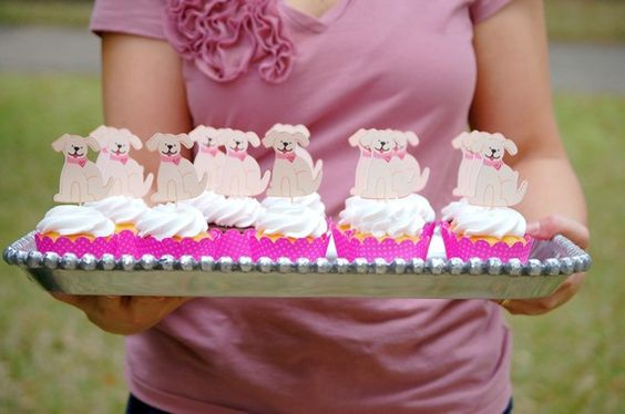 The PUPPY LOVE Collection - Custom Cupcake Toppers and Their Wraps from Mary Had a Little Party