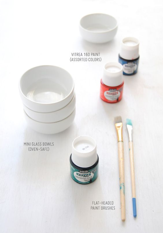 DIY painting bowls