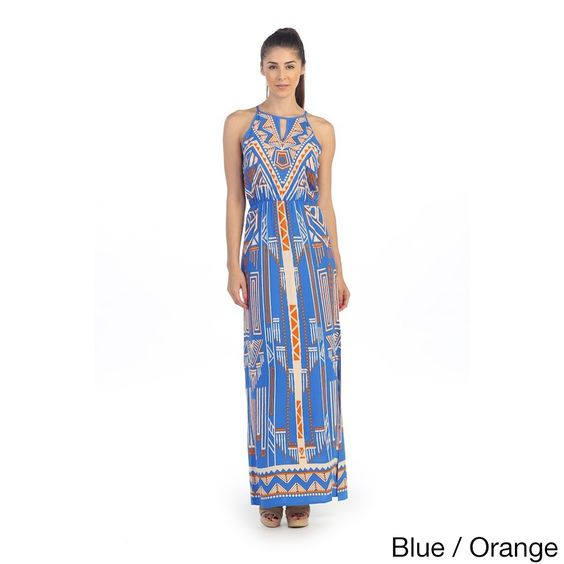 Hadari Women's Tropical Keyhole Maxi Dress | Overstock.com Shopping - Top Rated Casual Dresses