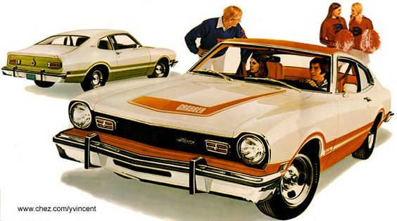 1974 Maverick Grabber - mine was just the opposite - brown with white trim...what a fun car!!