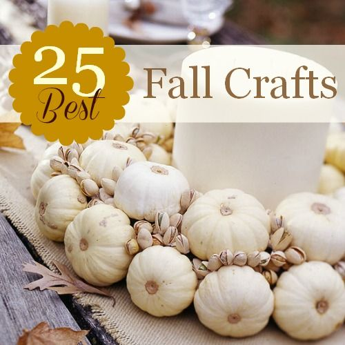 Great inspiration for Fall crafts and decor at Remodelaholic.