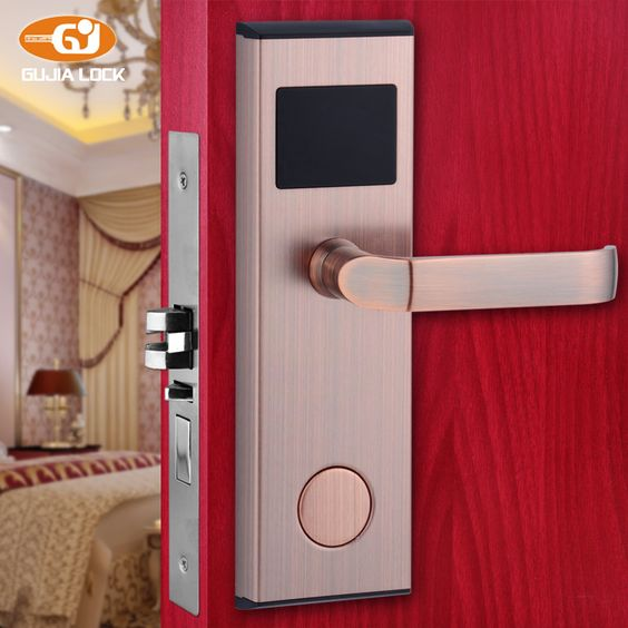2016 Digital Electric Promotion Hot Sale Electronic Hotel Card Reader Door Lock 01b Hotel Card Electric Lock Electricity