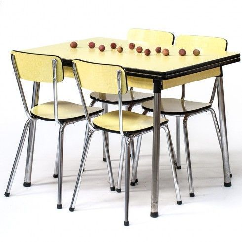 Table En Formica Vintage Annees 60 Jonquille Vintage Kitchen Decor Vintage Interior Retro Furniture Design
