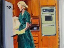 """""""Betty Washing Dishes"""" from the Mad Men series by Caroline Wampole"""