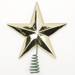 Star Tree Topper-Gold-2 Inch