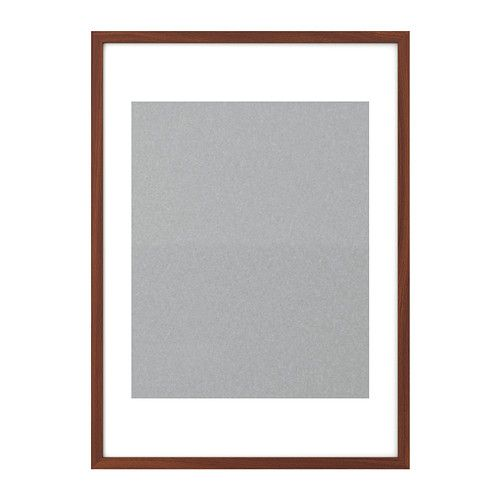 ribba frame ikea holds 16x20 print inside mat high gloss gray white or medium brown. Black Bedroom Furniture Sets. Home Design Ideas