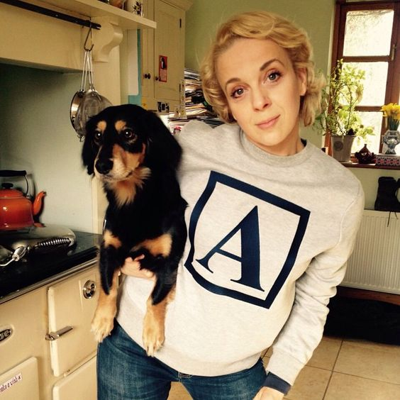 """""""A. Dog. And His Friend."""" - Amanda is such a cutie!"""