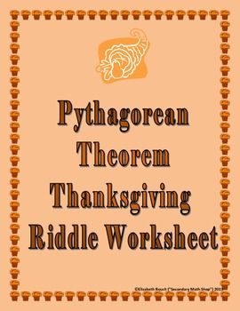 pythagorean theorem the missing and riddles on pinterest. Black Bedroom Furniture Sets. Home Design Ideas