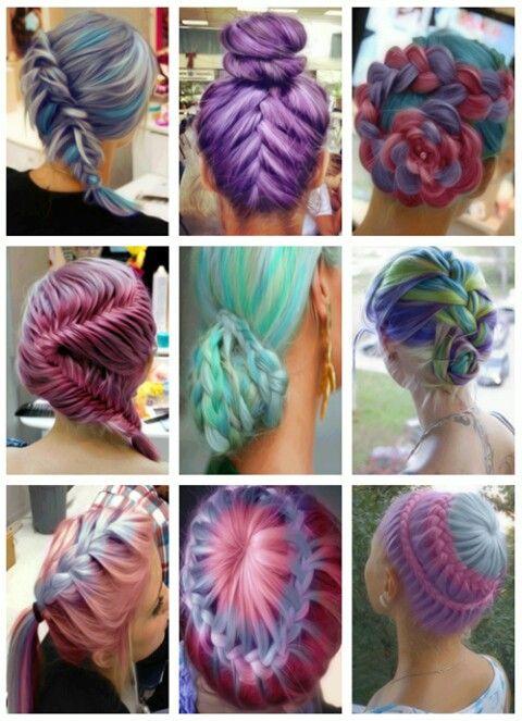Multiple unique hair colors  Hair  Pinterest  Unique hair color