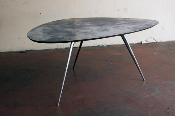Wood With Glass Tipoi : Tri Oval Plane Table  Modern Desks  Pinterest  Planes, Galleries ...