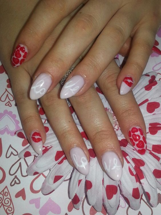 explore valentines nails valentines day and more nail art art nails ...