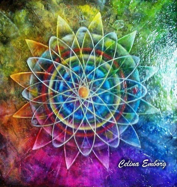 #Arte mandala  #Mandalas  #Pintura  #Fine Art #Celina Emborg