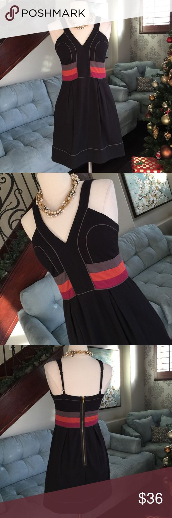 👗❤️️🌺BCBGMAXAZRIA adorable dress ♥️ Gorgeous style with back zipper multi color waist detail dress by BCBGMAXAZRIA so comfy and cute on perfect condition ♥️ BCBGMaxAzria Dresses