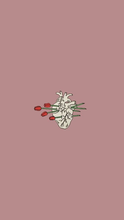 Wallpaper Heart And Rose Image Aesthetic Tumblr Backgrounds Aesthetic Wallpapers Iphone Wallpaper Tumblr Aesthetic