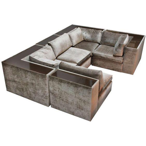 vintage mid century modern milo baughman for thayer coggin sectional sofa sectional sofas. Black Bedroom Furniture Sets. Home Design Ideas