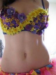Purple/Yellow bra!