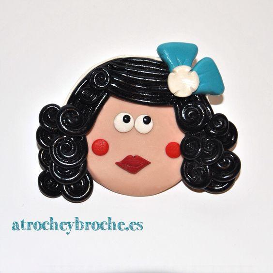 Broche de Pepita Pulgarcita de arcilla polimérica #polymerclay #polyclay