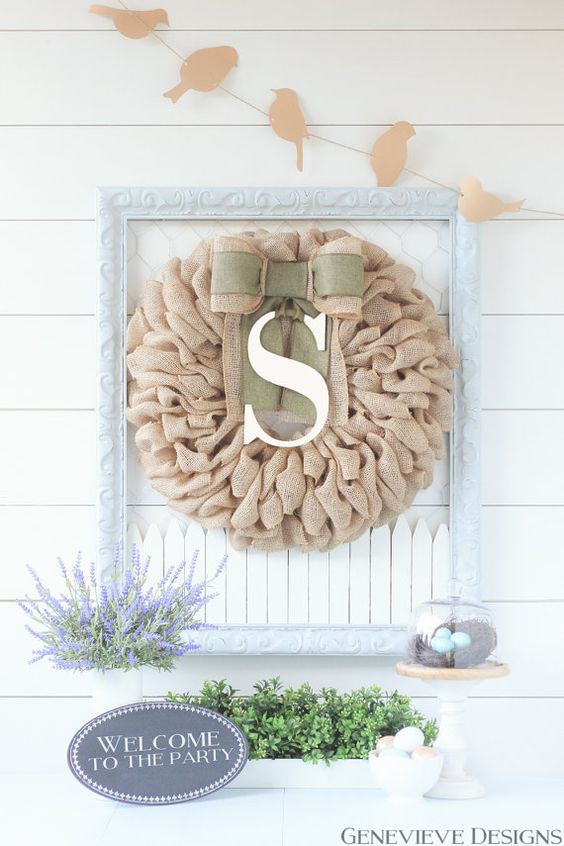 beautiful handcrafted personalized wreath