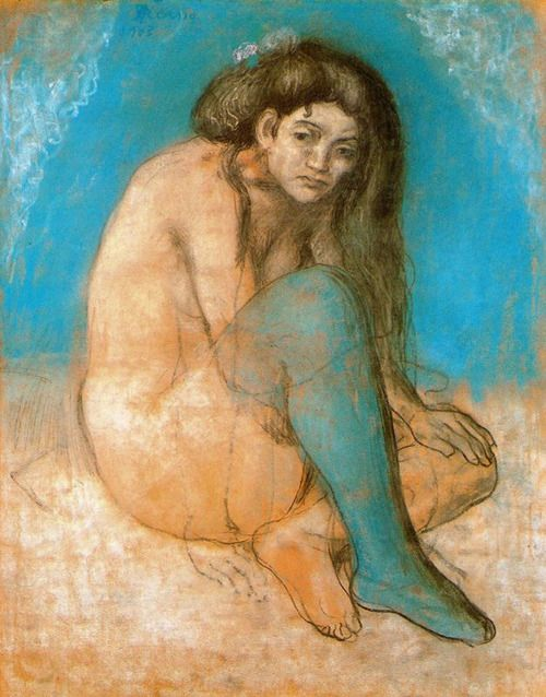 Pablo Picasso, Seated female nude, 1903