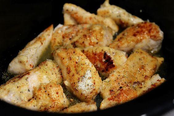 crock-pot lemon chicken [use half the butter + a df butter substitute]