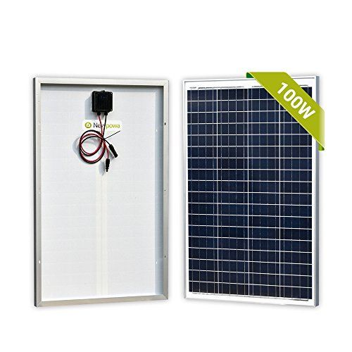Newpowa 100 Watts 12 Volts Polycrystalline Solar Panel 100w 12v High Efficiency Module Rv Marine Boat Off G Solar Panels Solar Panel Cost Solar Panels For Home