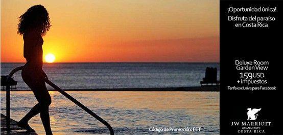 ¡Aprovecha esta oportunidad única de vivir las vacaciones de tus sueños en el paraíso! Pregunta por esta promoción con el código de reserva: EET Para más información al Tel. (506) 2681-2000 sjojw.reservation... y mailto:sjojw.rese... www.marriott.com/...